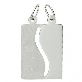 Basic Silber 29.1075S Damen Anhänger Partneranhänger Silber