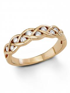 s.Oliver 9079810 Damen Ring Sterling-Silber 925 Rose Weiß 58 (18.5)