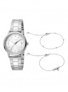 Esprit ES1L181M2045 Harper SET Uhr Damenuhr Edelstahl Datum silber