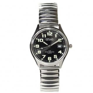 Cosmo 02063RZB-schwarz Uhr Herrenuhr Edelstahl Datum schwarz