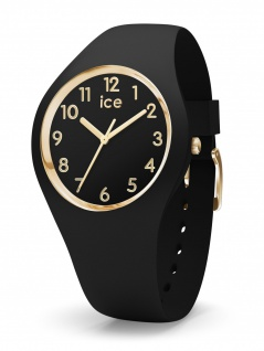 Ice-Watch 015338 ICE glam colour black gold numbers small Uhr Schwarz