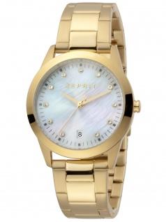 Esprit ES1L197M1025 Daphne Gold Uhr Damenuhr Datum gold