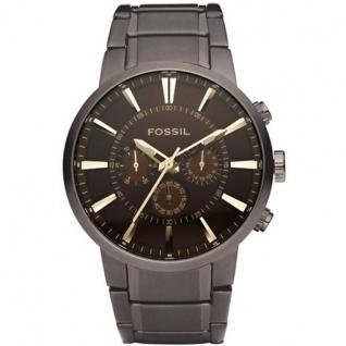 Fossil FS4357 Chronograph Uhr Herrenuhr Edelstahl Chrono braun