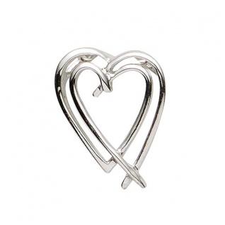 Basic Silber 21.1176S Damen Anhänger Herz Silber