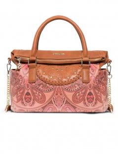 Desigual Damen Handtasche Tasche Winter Valkyrie Loverty Braun
