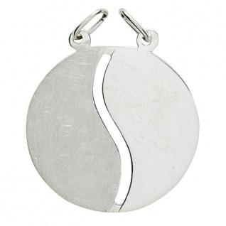 Basic Silber 29.1066S Damen Anhänger Partneranhänger Silber