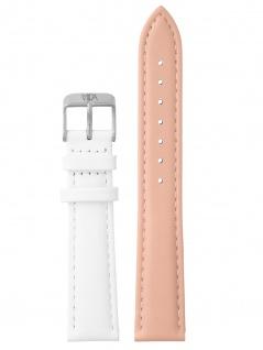 laVIIDA Uhrenarmband LB-SVI2026S Leder 18 mm Rosa-Weiß-Silber