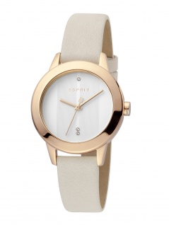 Esprit ES1L105L0255 Tact Uhr Damenuhr Lederarmband Beige
