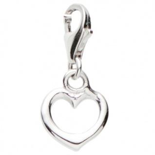Basic Silber 22.VX435 Damen Charms Herz Silber