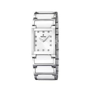 FESTINA F16536/3 KERAMIK Uhr Damenuhr kratzfestes Keramik weiß