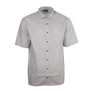 Eterna Herrenhemd Kurzarm Comfort Fit Beige gemustert Hemd XXL/45