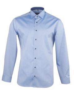Eterna Herren Hemd Langarm Slim Fit 8888/15/F140 Blau L/42