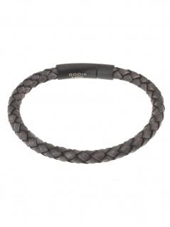 gooix 414-06766 Herren Armband Edelstahl grau 21 cm