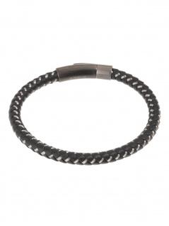 gooix 414-06765 Herren Armband Edelstahl schwarz 21 cm