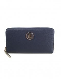 Tommy Hilfiger Damen Geldbörse Portemonnaies TH Core Zip Blau