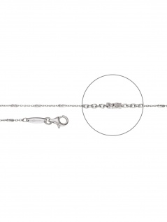 Der Kettenmacher A5-45S Anker Kette Silber 45 cm
