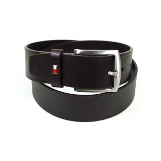 Tommy Hilfiger Herrengürtel New Denton Belt Braun Leder Gürtel 95 cm