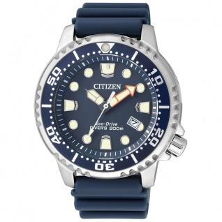 Citizen Promaster Marine Taucheruhr Uhr Herrenuhr Silikon Datum blau