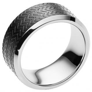 Emporio Armani EGS2227001515 Herren Ring Edelstahl Grau 66 (21.0)