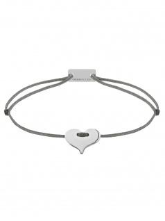 MOMENTOSS 21200216 Damen Armband Filo Herz Silber dunkelgrau 19 cm