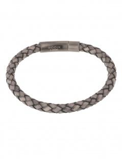 gooix 414-06767 Herren Armband Edelstahl grau 21 cm