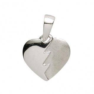 Basic Silber 21.1145S Damen Anhänger Herz Silber