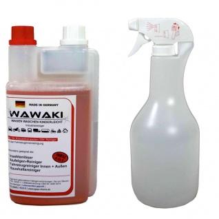 1 Liter Konzentrat Wawaki rot + 1 Liter Sprühflasche Innen-Außenreiniger