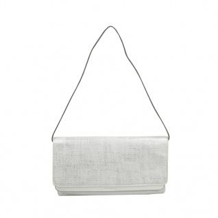 Esprit Peggy Clutch Bag Weiß Grau Handtasche Tasche Schultertasche