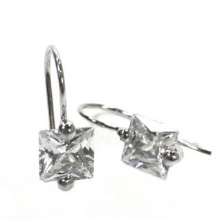 Basic Silber 02.EX658W Damen Ohrringe Silber Zirkonia weiß - Vorschau 1