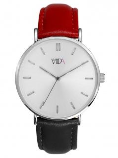 laVIIDA WVI2020S Vienna Uhr Damenuhr Lederarmband Schwarz