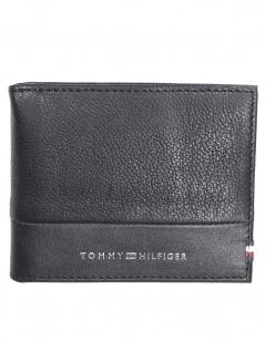 Tommy Hilfiger Herren Geldbörse Textured Mini CC Moneyclip Schwarz