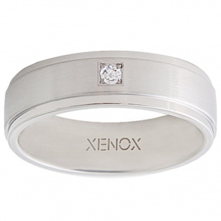 XENOX X2226-56 Damen Ring XENOX & friends Silber Weiß 56 (17.8)
