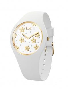 Ice-Watch 016667 ICE flower Precious white M Uhr Damenuhr Weiß