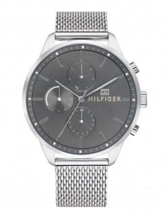 Tommy Hilfiger 1791484 CHASE Uhr Herrenuhr Edelstahl Datum Silber