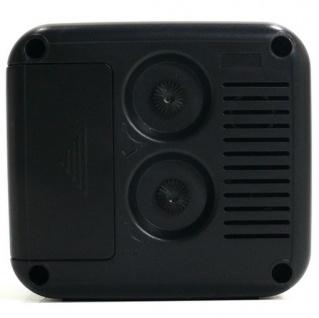 W&S 030409 Wecker Uhr schwarz-weiß Analog Licht Alarm - Vorschau 3