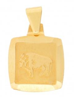 Gerry Eder 24.9022ST Anhänger Stier 14 Karat (585) Gelbgold Gold