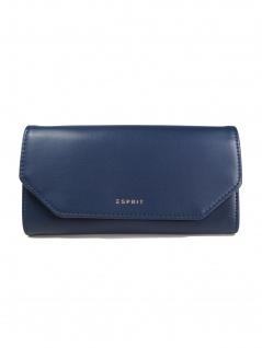 Esprit Damen Geldbörse Geldbeutel Camino flat clutch Blau