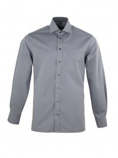 Eterna Herrenhemd Langarm Modern Fit Hellgrau Gr. L/42 8500/32/X157