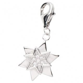 Basic Silber 22.VX476 Damen Charms Stern Silber Zirkonia weiß