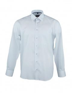 Eterna Herren Hemd Langarm Comfort Fit XL/44 Blau 8817/10/E19K