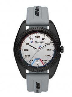 BMW BMW1010 Uhr Herrenuhr Kautschuk Datum grau