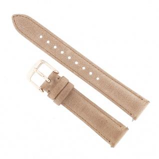 Fossil Uhrenarmband LB-ES4007 Ersatzband ES4007 Leder 14 mm Beige