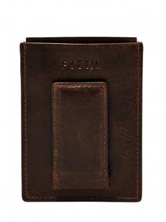Fossil Herren Geldbörse DERRICK Magnetic Card Case Braun ML3812-201