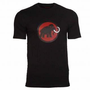 Mammut Herren T-Shirt Kurzarm Mammut Logo T-Shirt Men Schwarz Gr. M