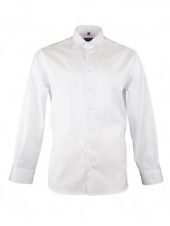Eterna Herren Hemd Langarm Comfort Fit XL/44 Weiß 8817/00/E19K