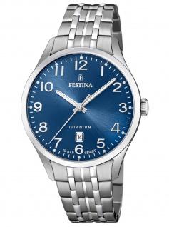 Festina F20466/2 Uhr Herrenuhr Titan Datum grau
