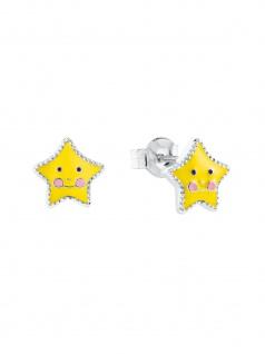 Prinzessin Lillifee 2024366 Mädchen Ohrstecker Stern Silber Gelb