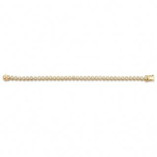 GOOIX 916-00002 Damen Armband Silber gold Zirkonia 19 cm