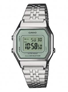 CASIO LA680WEA-7EF Uhr Herrenuhr Edelstahl Datum Alarm Silber