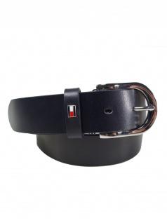 Tommy Hilfiger Damen Gürtel Jeansgürtel New Danny Belt Leder 85cm Blau